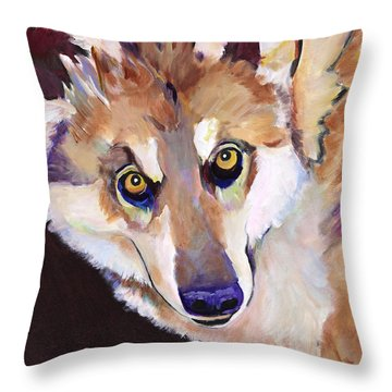 Night Eyes Throw Pillow by Pat Saunders-White