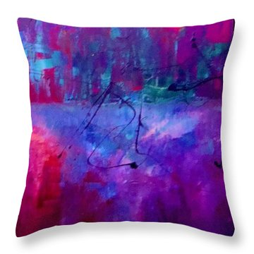Night Falls Upon Throw Pillow by Lisa Kaiser