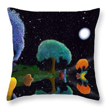 Night Games Throw Pillow