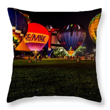 Night Glow Throw Pillow