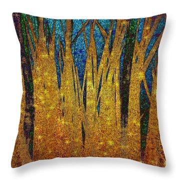 Throw Pillow featuring the digital art Night Grass by Darla Wood