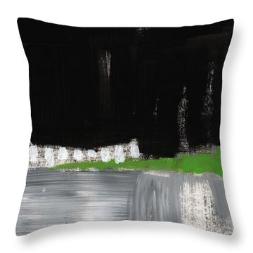 Night Horizon- Abstract Landscapeart Throw Pillow