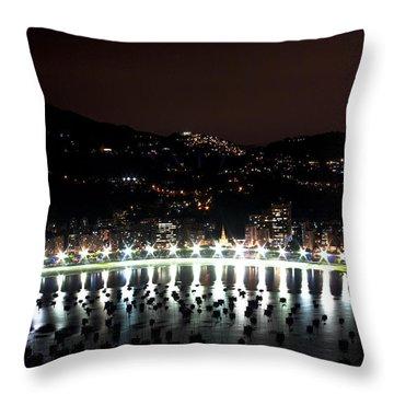 Night In Rio De Janeiro Throw Pillow by Daniel Precht