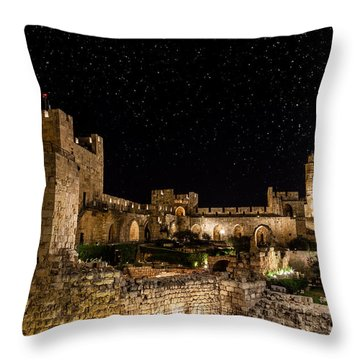 Night In The Old City Throw Pillow by Alexey Stiop