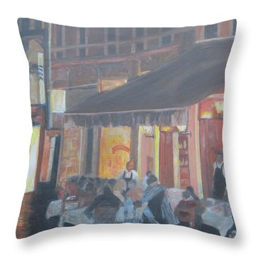 Night In Venice Throw Pillow