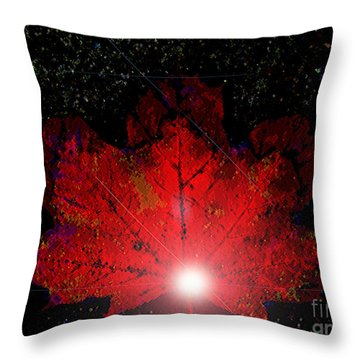 Night Light Throw Pillow by Ann Johndro-Collins