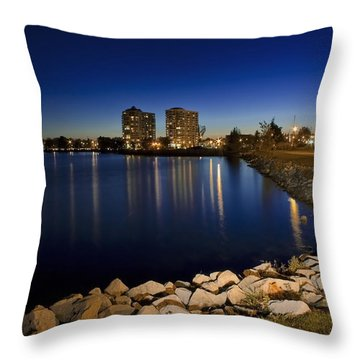 Night Light In Barrie Throw Pillow