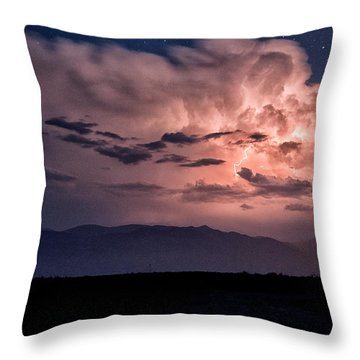 Night Lightning Throw Pillow