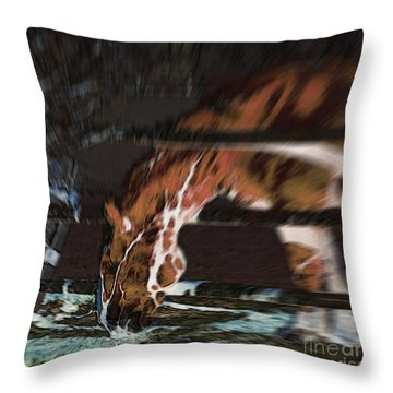 Throw Pillow featuring the digital art Night-mare by Stuart Turnbull