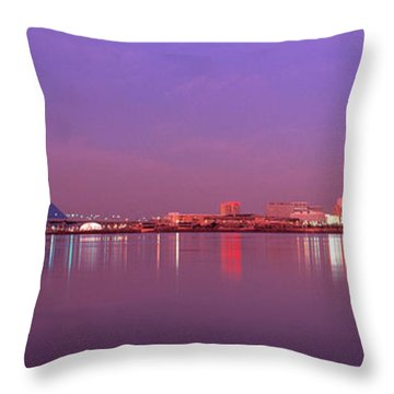 Night Memphis Tn Throw Pillow