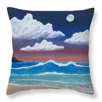 Night Ocean Throw Pillow