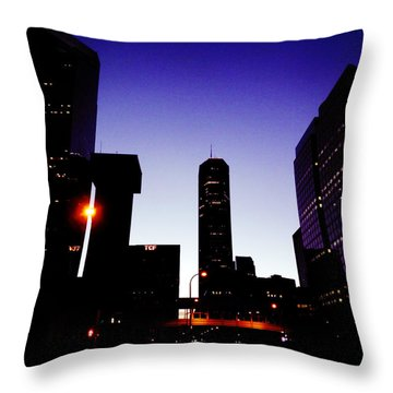 Night Of Minneapolis Throw Pillow by Zinvolle Art