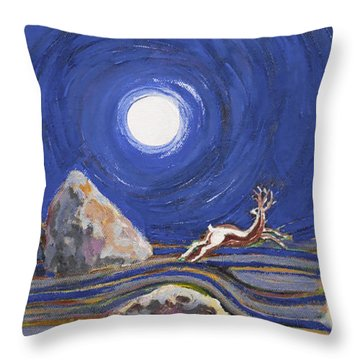 Night Of Mysteries Throw Pillow