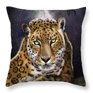 Fourth Of The Big Cat Series - Leopard Throw Pillow