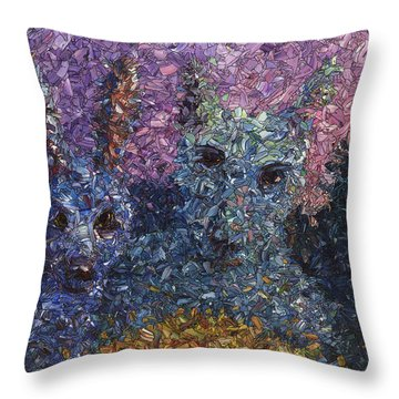 Throw Pillow featuring the painting Night Offering by James W Johnson