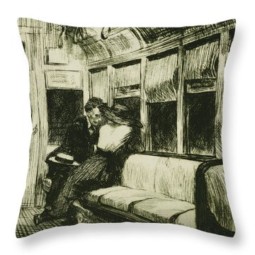 Night On The El Train Throw Pillow by Edward Hopper