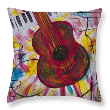 Night Out Throw Pillow by Robin Hillman