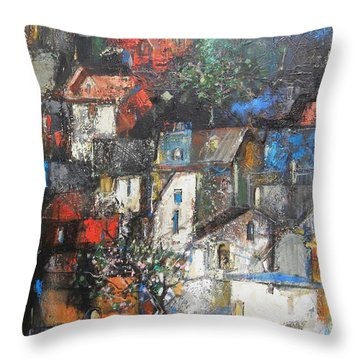 Night Over The Town Throw Pillow