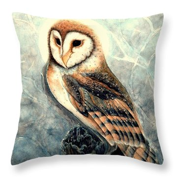 Night Owl Throw Pillow by Janine Riley