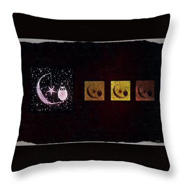 Night Owls Throw Pillow by Sherry Flaker