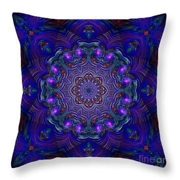 Throw Pillow featuring the digital art Night Party 3d Art by Hanza Turgul