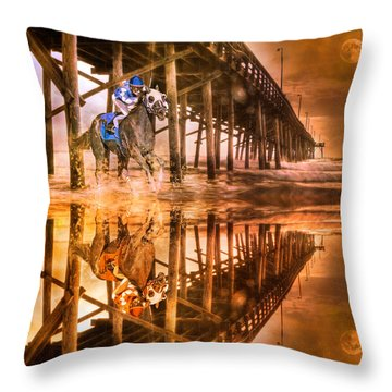 Night Run IIi Patriotic  Throw Pillow by Betsy Knapp