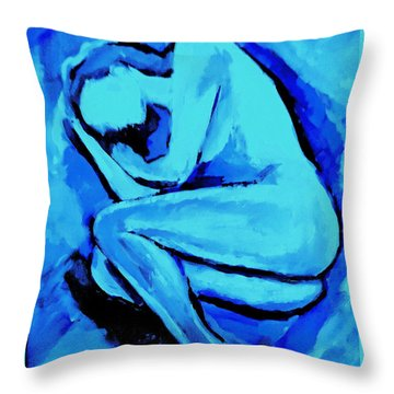 Night S Embrace Throw Pillow by Helena Wierzbicki