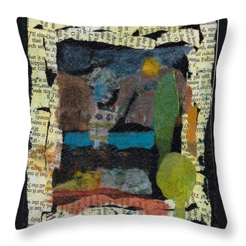 Throw Pillow featuring the mixed media Night Scene by Catherine Redmayne