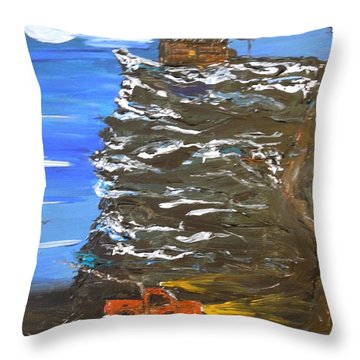 Night Shack Throw Pillow