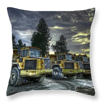 Night Shift Throw Pillow by Daniel Hagerman