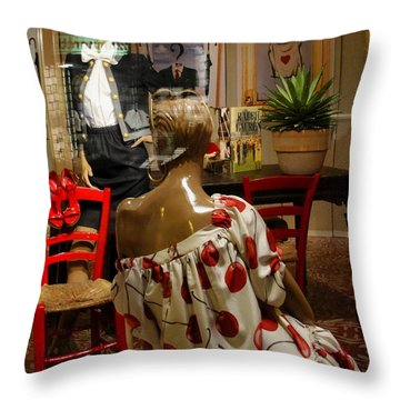 Throw Pillow featuring the photograph Cherry Bomb by Natalie Ortiz
