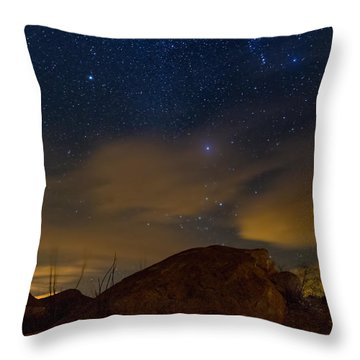 Night Sky Throw Pillow by Beverly Parks
