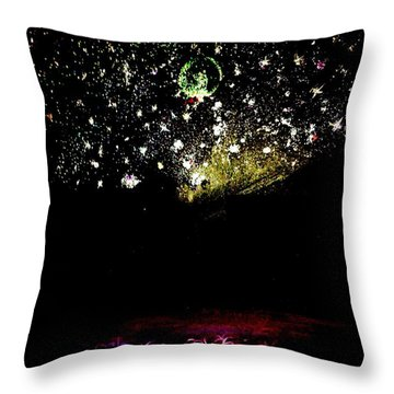 Night Sky In Tropical Tobago Throw Pillow by Renee Michelle Wenker