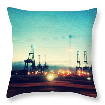 Seattle Night Sky Throw Pillow