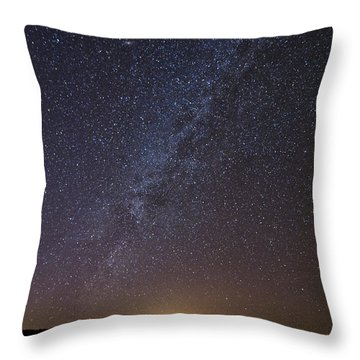 Night Sky Reflected In Lake Throw Pillow