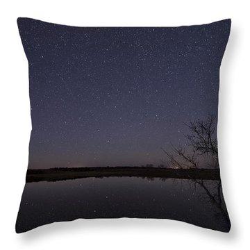 Night Sky Reflection Throw Pillow