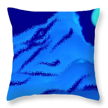 Night Song Wanderer. Goethe Throw Pillow