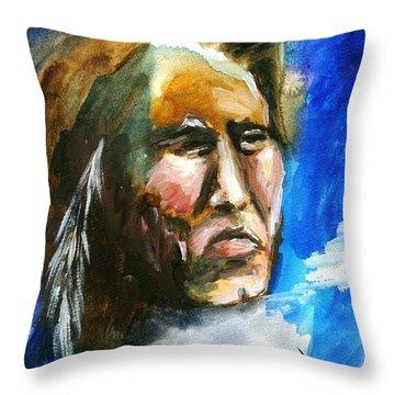 Throw Pillow featuring the painting Night Spirit by Karen  Ferrand Carroll