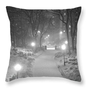 Night Storm New York Throw Pillow