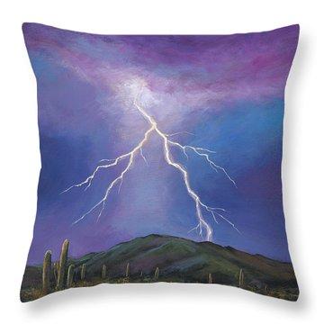 Night Strike Throw Pillow