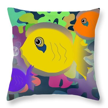 Night Swimming Throw Pillow