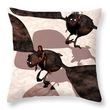 Night Terrors Throw Pillow