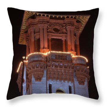 Night Tower Throw Pillow by Kenneth Albin