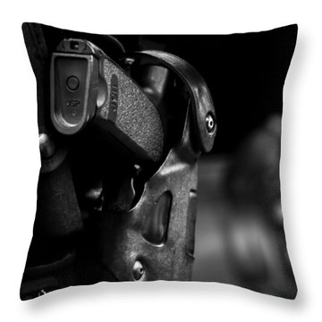 Night Traffic Stop Two Throw Pillow by Bob Orsillo