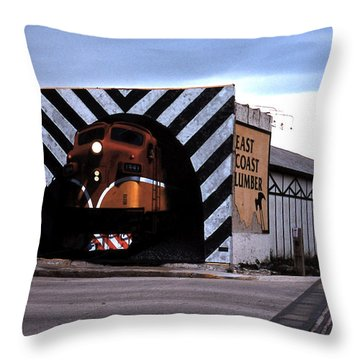 Night Train Throw Pillow by Blue Sky