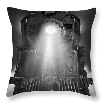 Night Train On The Move Throw Pillow by Mike McGlothlen