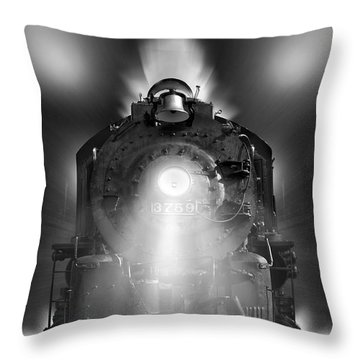 Night Train On The Move Throw Pillow