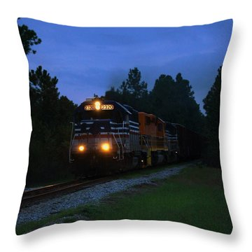 Night Train Throw Pillow by Paul  Wilford