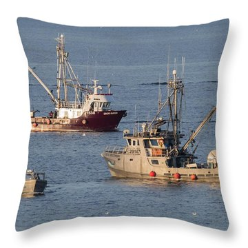 Night Train Throw Pillow by Randy Hall