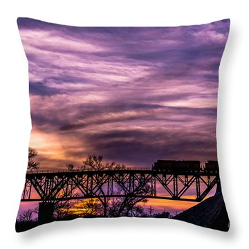 Night Train Throw Pillow